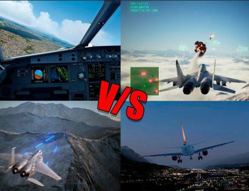 La diferencia entre un simulador de vuelo y un juego de aviones